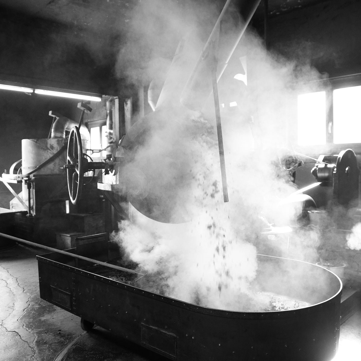 coffee roasting sphere emptying
