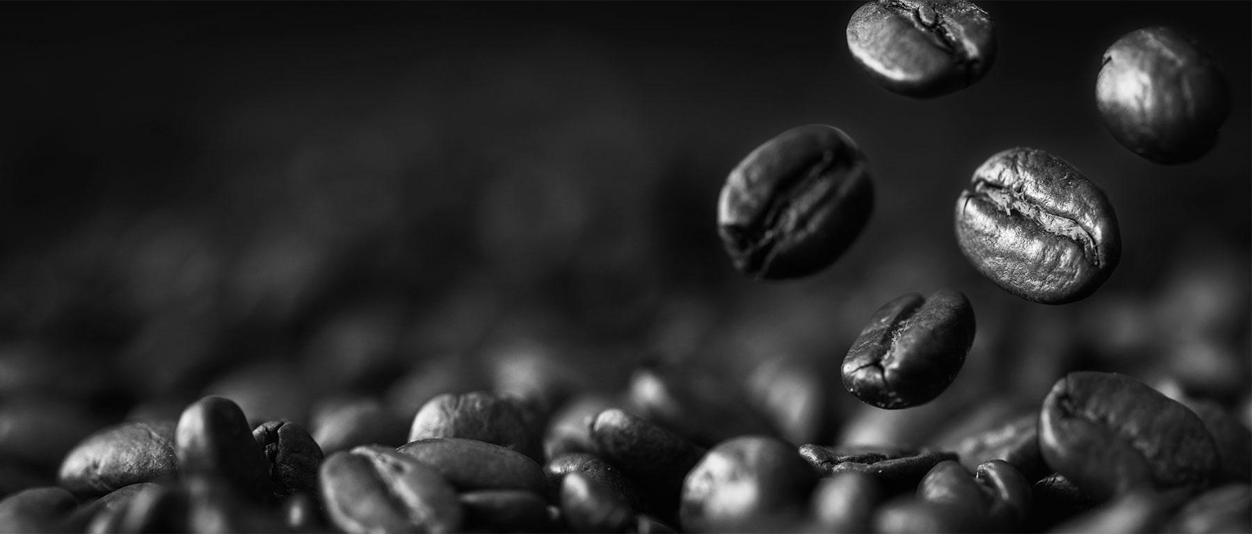 Vision von gerösteten Kaffeebohnen