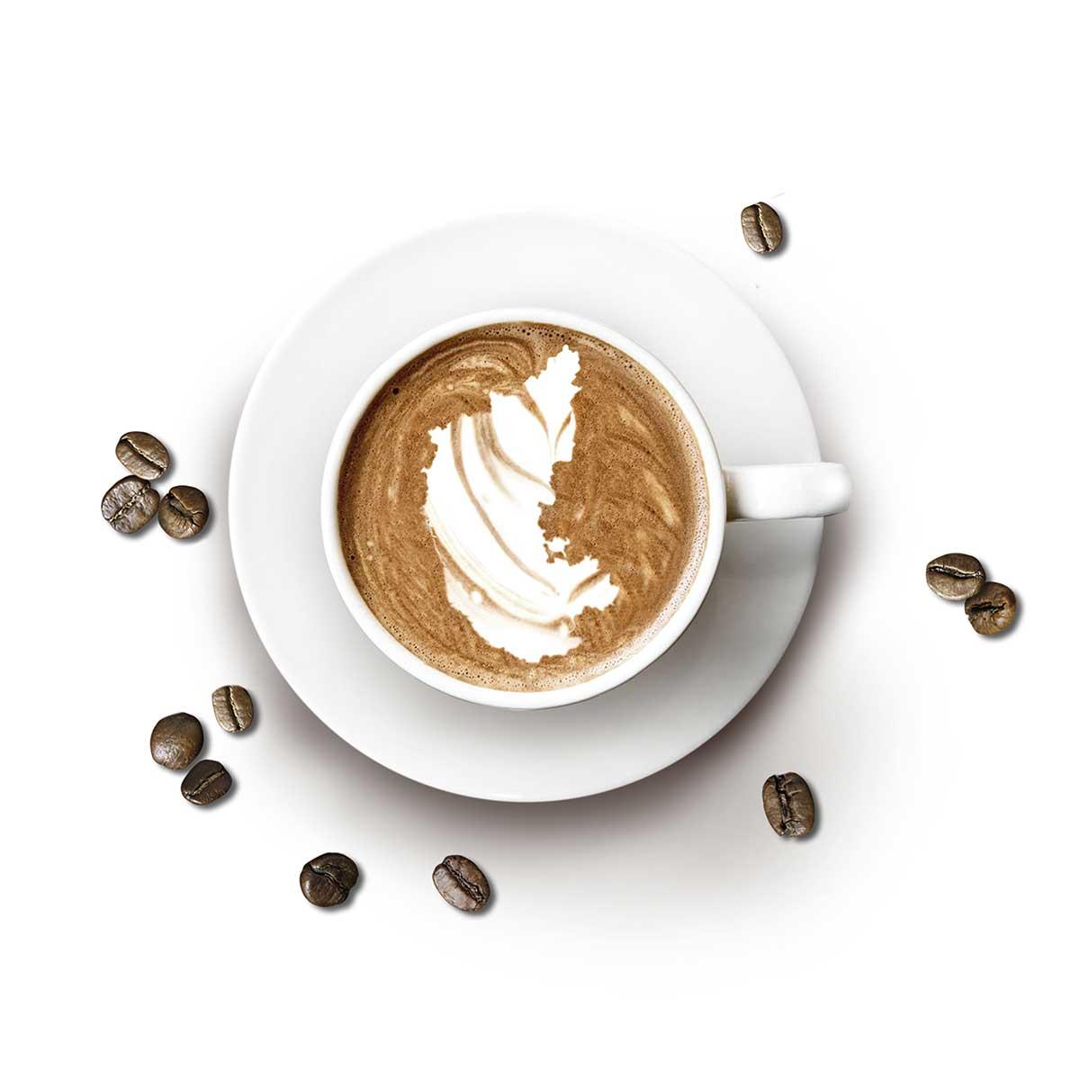 Indian Parchment AB Kaffeetasse Karnataka Landkarte