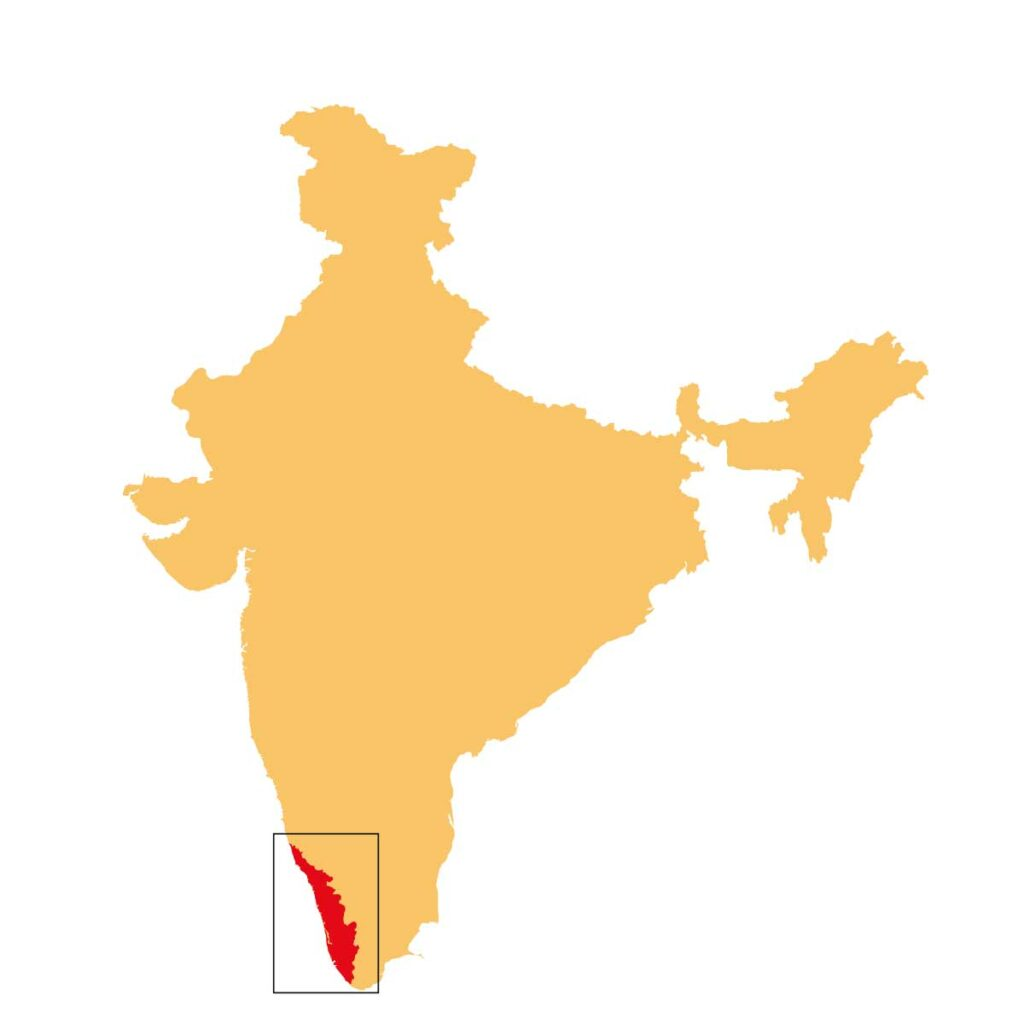 India Kerala map